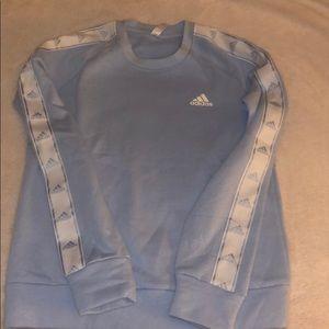 Adidas baby blue crewneck